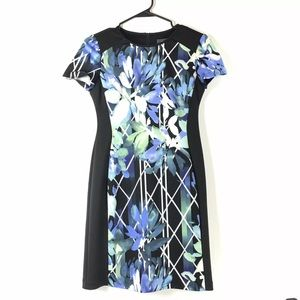 Vince Camuto Floral Print Sheath Career Work Dress